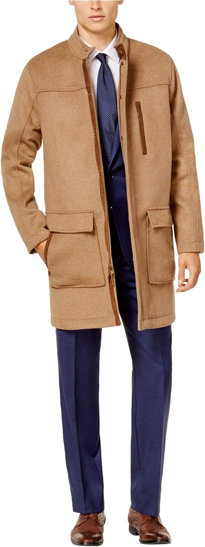 Ryan Seacrest Mens Camel Parka Coat