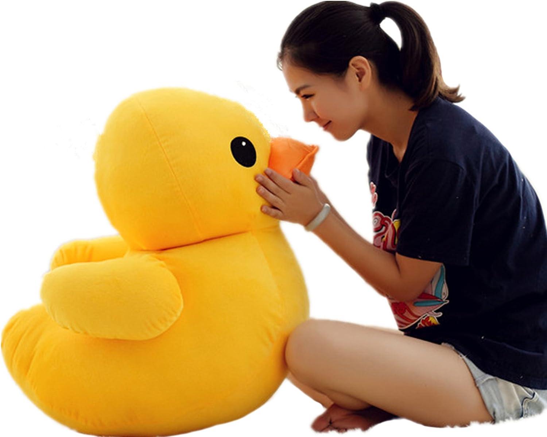 PeiGee 75CM Giant Plush Yellow Duck Soft Stuffed Animal Toy Sofa Decoration Kids Birthday