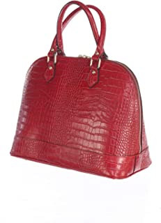 Erminia Hand-made practical Handbag with two handles in Italian genuine leather