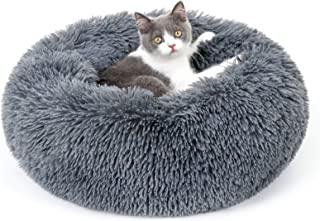 rabbitgoo Cat Bed, Dog Bed for Small Dogs, Donut Calming Pet Bed, Deep Sleeping 50cm Fluffy Round Soft Plush Dog Beds, Mac...