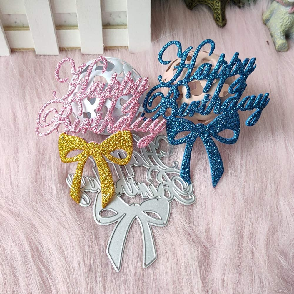 DIYshop Happy Birthday Bow Metal The Manufactur Dies Cutting for Beauty Ranking TOP17 products