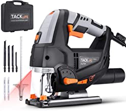 TACKLIFE Advanced 6.7 Amp 3000 SPM Jigsaw with Laser & LED, Variable Speed, Carrying Case, 6 Blades, Adjustable Aluminum B...