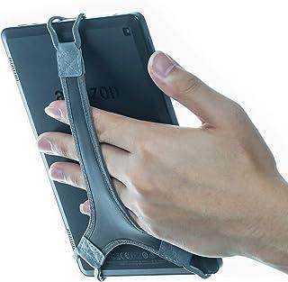 WANPOOL ハンドストラップホルダー 指グリップ タブレット用 - Fire 7インチ / Fire HD 8 / iPad Mini/Galaxy Tab S 8.4 / Galaxy Tab 2/3 / 4 / Galaxy Tab 7.7用 WP-6BELTHOOK8_PU_GRY