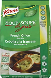 Knorr Professional Soup du Jour French Onion Soup Mix Gluten Free, No added MSG, 0g Trans Fat per Serving, Just Add Water, 12.9 oz, Pack of 4