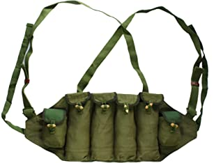 HOMEDAILYSALE Green Chinese Type 81 Type Chest Rig 6 Pockets Magazine Bag Pouch