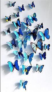 comprar comparacion Homiki 24 Piezas 3D Mariposa Azul Adhesiva Magnética para Decoración de Hogar Casa Habitación Ofiina Pared Nevera