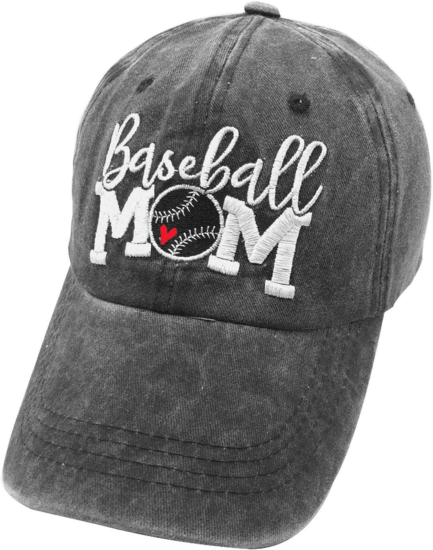 Waldeal Women's Baseball Mom Hat Vintage Ballcap Washed Distressed Dad Cap