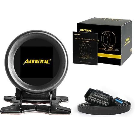 iTimo Auto OBD Compteur de vitesse num/érique intelligent pour compteur de vitesse de voiture avec compteur de temp/érature RPM HUD P10 Outil de diagnostic automobile Noir