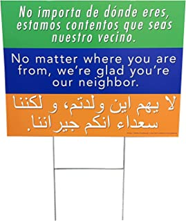 Welcome Your Neighbors Yard Sign 18x24