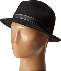 Clooney Fedora Hat with Contrast Band