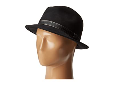 Country Gentleman Clooney Fedora Hat with Contrast Band (Black) Caps