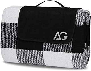 AG Picnic Outdoor Blanket Park Blankets Beach Mat Waterproof Blanket for Camping on Grass Oversized Seats 60'' X 80'' Adul...