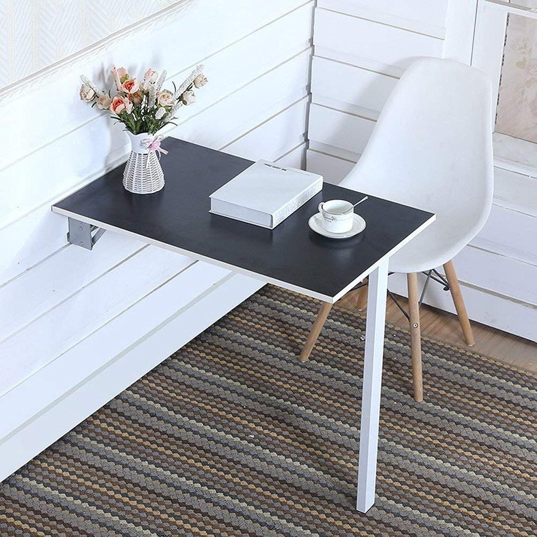AFDK Klapp-Esstisch mit Klappblatt zur Wandmontage Computertisch Coffee Space Saver Fold schwarz,80  40 cm