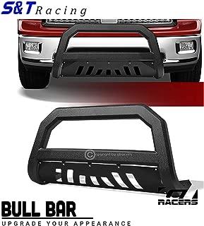 S&T Racing Textured Black Edge Bull Bar Grille Guard AVT 2010-2018 for Dodge Ram 2500/3500