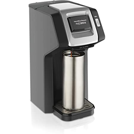 Hamilton Beach 49974 FlexBrew Single-Serve Coffee Maker Compatible with Pod Packs and Grounds, Black