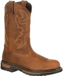 Rocky Men's Original Ride Steel Toe Crazy Horse Work Boot