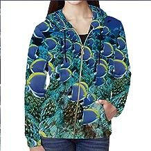 YOLIYANA Tropical Decor Full Zip Hoodie,for Travel,XS