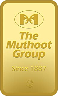 Muthoot Precious Metals Corporation 24k (999) Yellow Gold 10 G 24k, 999 Gold Bar