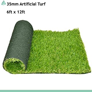 SunnyRoyal 6' x 12' Outdoor Rug Artificail Grass for Patios, Indoor Landscape Decoration, Lawn Turf Synthetic Rugs Mat for Dog Pet Area