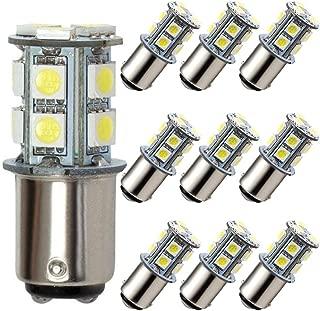GRV Ba15D 1142 1076 1176 High Bright Car LED Bulb 13-5050SMD AC/DC12V 24V Cool White Pack of 10