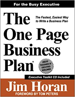 The One Page Business Plan for the Busy Executive