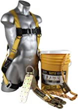 Guardian Fall Protection (Qualcraft) 00815 BOS-T50 Bucket of Safe-Tie with Temper Anchor, 50-Foot Vertical Lifeline Assemb...