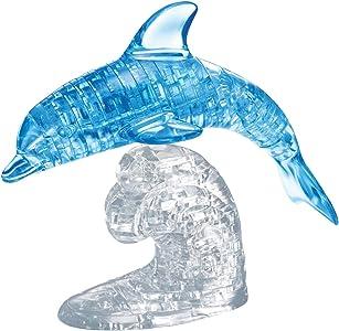 HCMHCM Kinzel 59115 - Puzzle de cristal grande, motivo de delfín , color/modelo surtido
