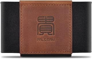 Compact Slim Wallet Minimalist Front Pocket Wallet for Men Women Elastic Card Holder (Brown)