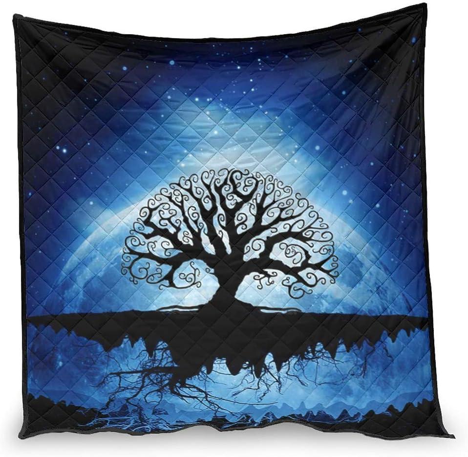 Bargain Puuwomenbt Colors Viking Blue Tree Atlanta Mall Blanket of Quilt Life Regular