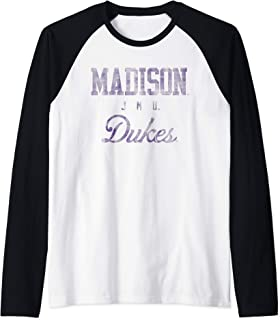 James Madison JMU Dukes NCAA 30jmu-1 Raglan Baseball Tee