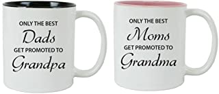 CustomGiftsNow Only the Best Dads/Moms Get Promoted to Grandpa/Grandma White 11-Ounce..