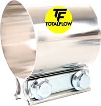 "TOTALFLOW 2"" TF-JB56 304 Stainless Steel Butt Joint Exhaust Muffler Clamp Band-2 Inch"