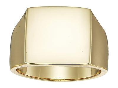 SHASHI Square Signet Ring (Yellow Gold) Ring
