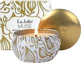شمعهای معطر LA JOLIE MUSE شمعهای نارگیل وانیلی ، موم سویا ، قلع مسافرتی طلا
