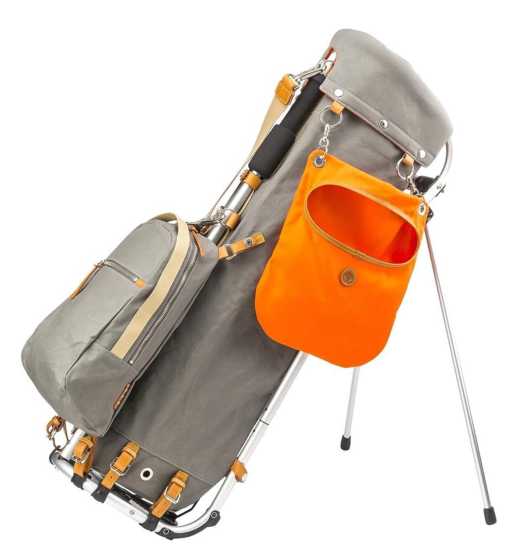 借りる食欲未知のMIZUNO(ミズノ) キャディーバッグ フレームウォーカー 木の庄帆布 キャディバッグ