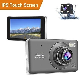 Dual Dashcam Front  und Heckkamera Full HD 1080P Auto Armaturenbrett Kamera mit Nachtsicht, 10,2 cm Touchscreen, 170° Weitwinkel, G Sensor, Loop Aufnahme, Park Monitor, Bewegungserkennung