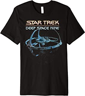 Star Trek DS9 Space Station Logo Vintage Premium T-Shirt