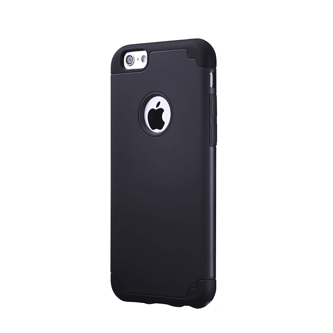 AILUN Phone Case for iPhone 6s,iPhone 6,Soft Interior Silicone Bumper&Hard Shell Solid PC Back,Shock-Absorption&Skid-Proof,Anti-Scratch Hybrid Dual-Layer Slim Cover[Black] ebk94321262