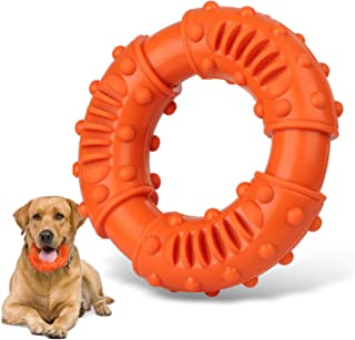Dog Chew Toys for Aggressive Chewers Large Breed,Ultra-Tough Natural Rubber Puppy Aggressive Chew Toys for Medium Large Dogs - Fun to Train, Chase and Fetch