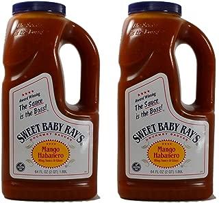 Sweet Baby Rays Mango Habanero Wing Sauce & Glaze 64 Oz. (2-Pack)