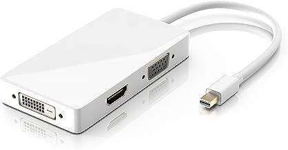 CSL - 3in1 Mini Display Port zu VGA HDMI DVI Adapter Konverter - für PC MAC APPLE - Multifunktionsadapter