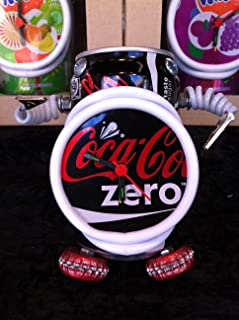 Recycled cans - TheGermanMarket.co.uk Coke Zero Can Robot Clock Coca Cola Alarm With Picture Holders