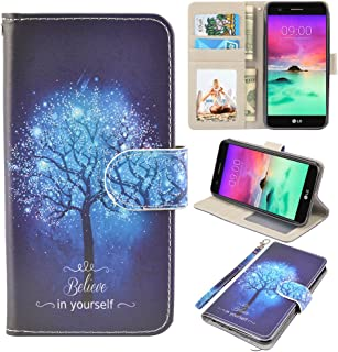 UrSpeedtekLive LG stylo 3 Case, LG stylo 3 Wallet Case, Premium PU Leather Flip Wallet Case Cover w/Card Slots & Kickstand Compatible with LG stylo 3, Believe in Yourself