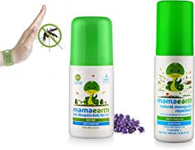 Mamaearth Natural Anti Mosquito Body Roll On, 40ml & Natural Insect Repellent for Babies (100 ml) Combo