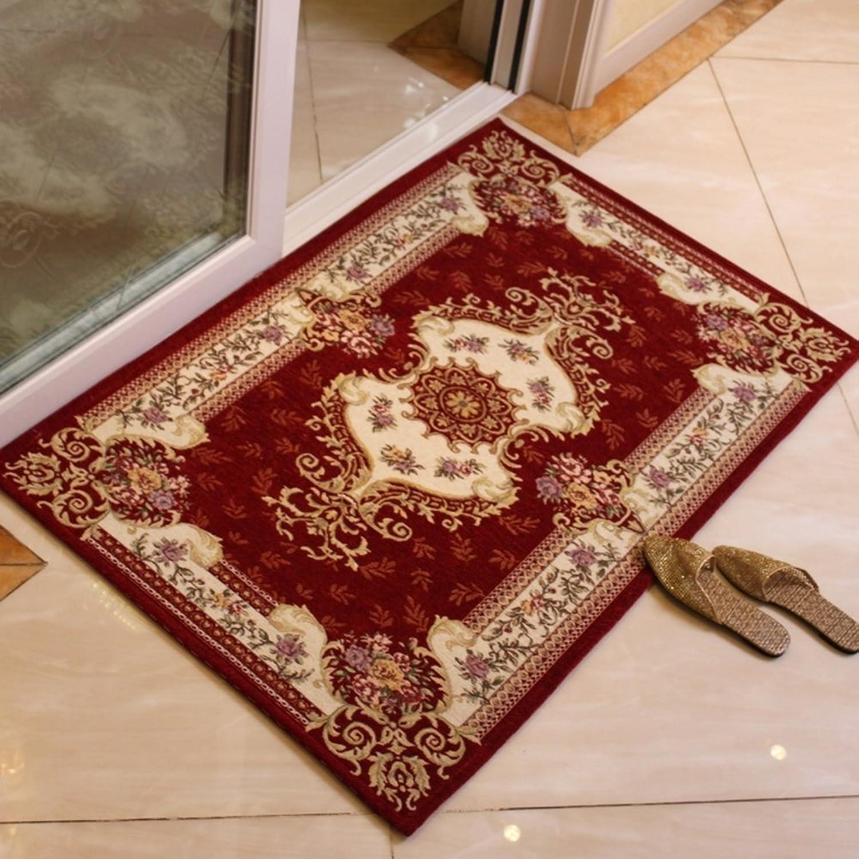 European-Style Woven mats The Hall mat Bedroom Living Room Door Anti-Skid mats Indoor Absorbent pad-G 80x120cm(31x47inch)