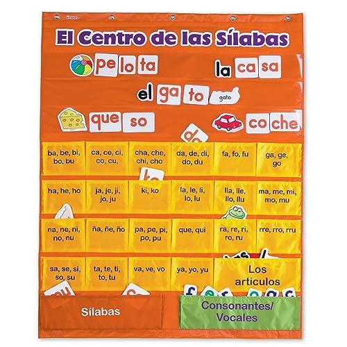 Learning Resources El Centro de las Silabas (Spanish Syllables) Pocket Chart