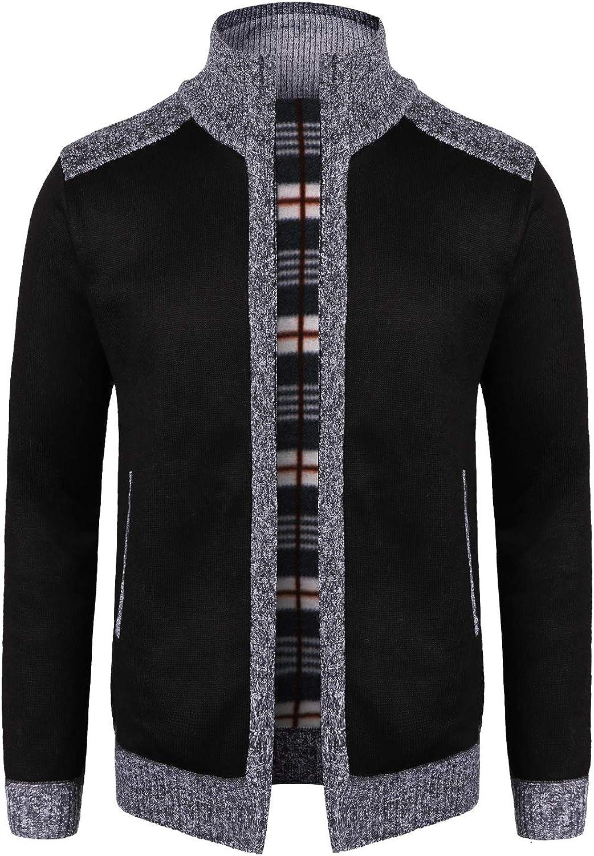 OlyljpinZ Time sale Men's Casual Stand Collar Zip Slim Knitt Thick Sweater Ranking TOP4