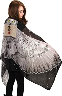 Harry Potter Hedwig Light Wing Scarf for Women Black