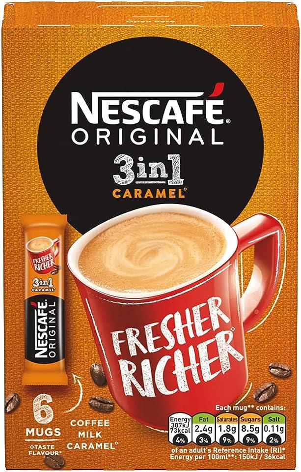 Nescafe Original Caramel 3In1 6 Mugs 102G