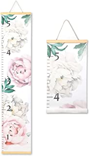 Morxy Growth Chart for Girls, Kids Height Measurement for Wall - Canvas Floral